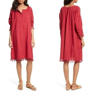 NWOT The Great The Tassel Tunic Dress Red
